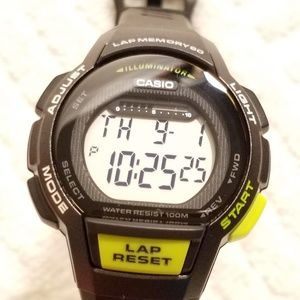 Casio Black Digital Watch Chronograph Alarm Lap